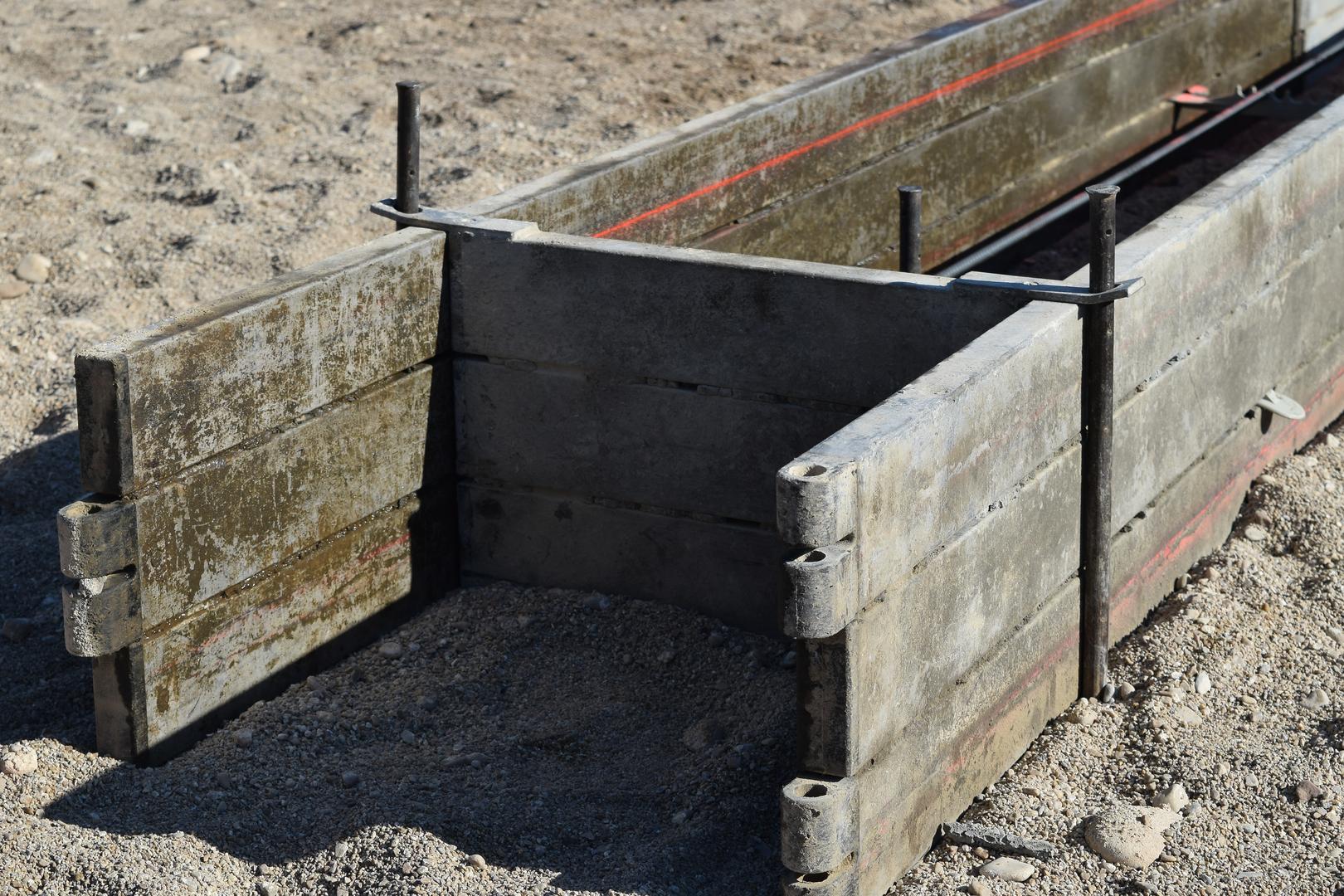 EZ-Footing Concrete Forms Services - Concrete Stock